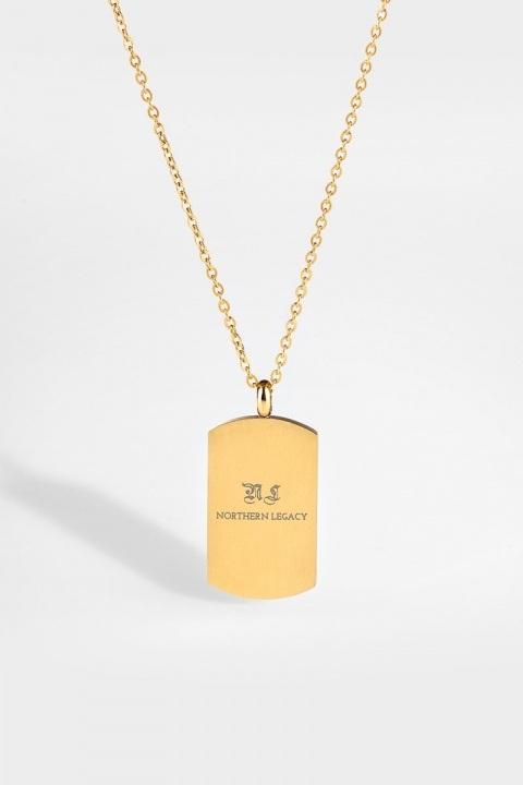 Northern Legacy Vegvisir Tag Halskette Guld