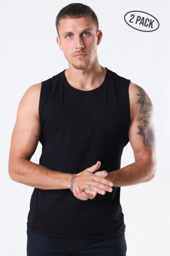 Muscle Fit Tank Top 2-Pack Black