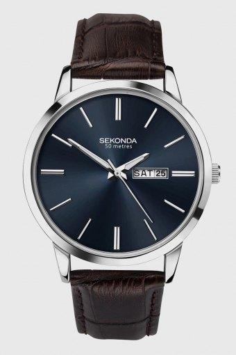 1662 Classic Dark Brown Leather Uhr