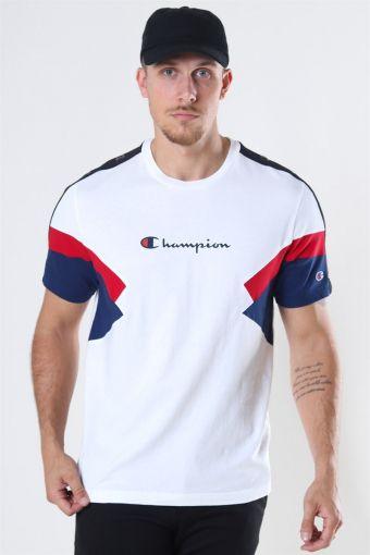 Crewneck T-Shirt White/Blue/Red