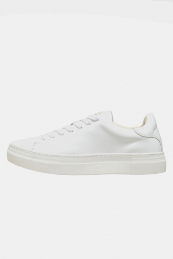 SLHDAVID CHUNKY LEATHER TRAINER B NOOS White