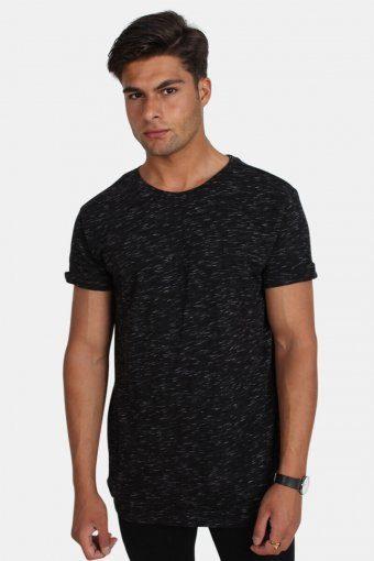 Uhrban Classics TB1576 Space Dye Turnup T-shirt Black/White