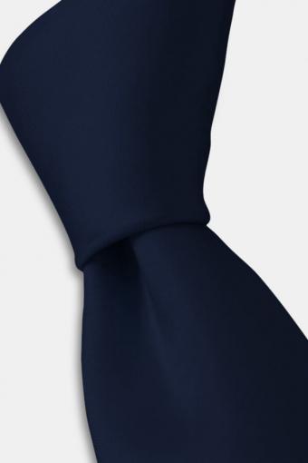 Ensfarvet Krawatte Navy