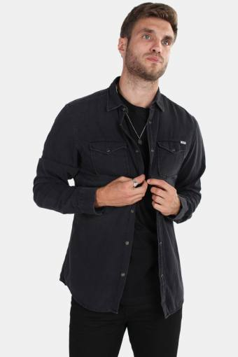 Sheridan Hemd LS Black Denim