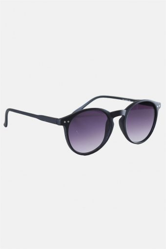 Fashion 1380 Panto Black Rubber Sonnenbrille Grey Gradient