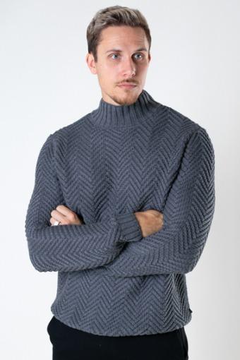 Orlando Knit Turtleneck Light Grey Melangé
