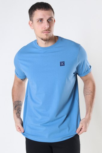 Basic Organic Tee Steel Blue