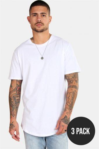 matt Longy SS T-shirt 3-pack White