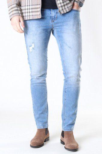 Clean Cut David Slim Stretch Jeans Light Blue Denim