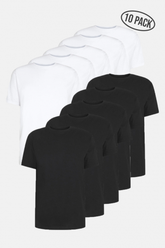DP Longy Tee 10 Pack 5 Black/ 5 White