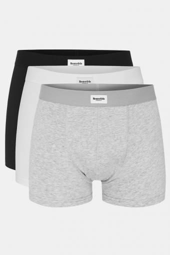 Resteröds 3-Pack 7933 1 Boxershorts White Grey Black