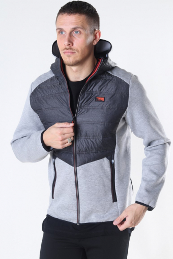 Toby Hybrid Jacke Light Grey Melange