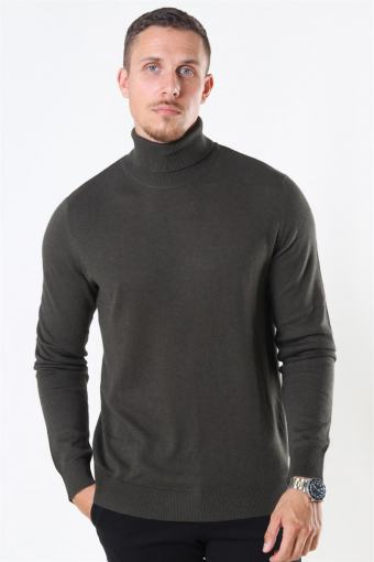 Emil Turtleneck Strik Olive Night