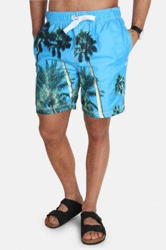 Premium Neo Photo Swim Shorts La Sky