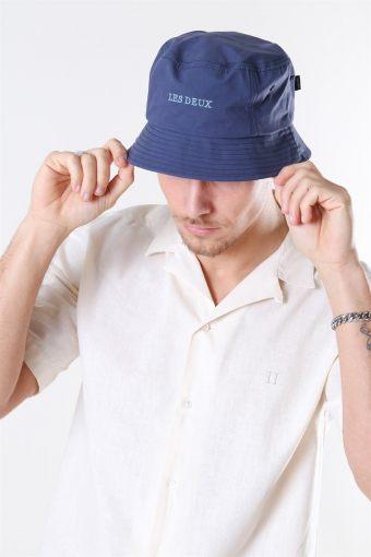 Toulouse Poplin Bucket Hat Dark Navy/Provincial Blue