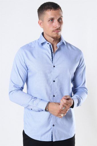 Viggo Dobby Hemd Cashmere Blue