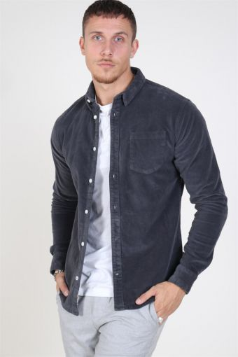 Johan CordUhroy Overshirt Ashly Grey