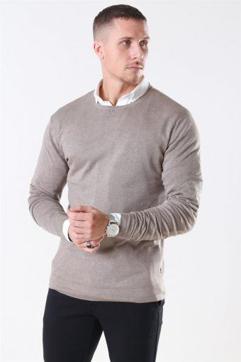 Tailored & Originals Mont Stricken O-Neck Dune Melange