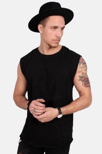 Uhrban Classics TB1562 Open Edge Sleeveless T-shirt Black