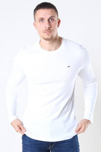 Tommy Jeans Original Rib Longsleeve White