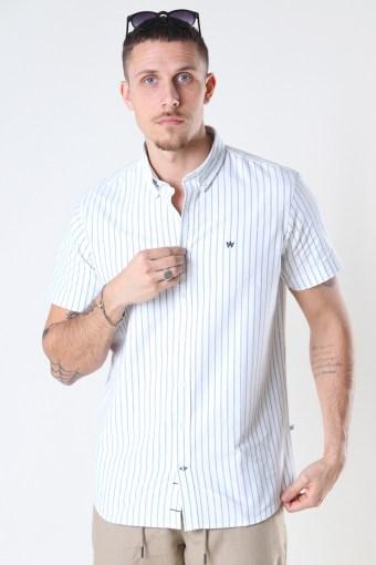 Johan Oxford  stripe 3 s/s shirt Light Blue