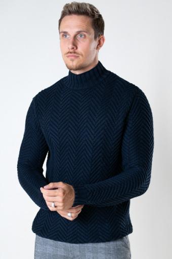 Orlando Knit Turtleneck Navy