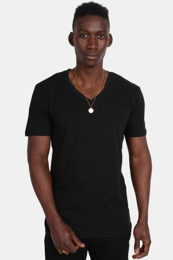 Uhrban Classics TB1559 Basic V-Neck T-shirt Black