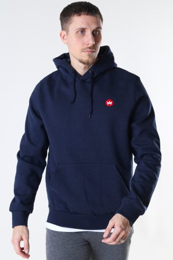 Lars Recycled cotton hood Navy