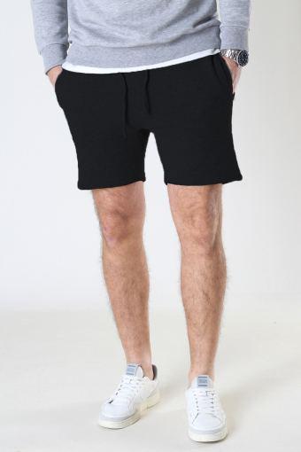 Knox jogger Recycle cotton shorts Black