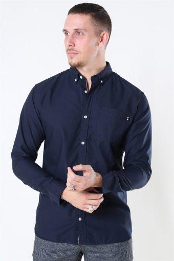 Classic Soft Oxford Hemd LS Navy Blazer