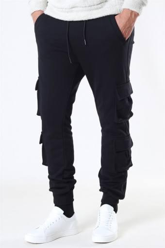 Uhrban Classics Double Pocket Terry Sweat Pants Black