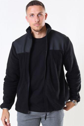 Fleece Zip Puller Jacke Black