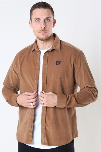 Clean Cut CordUhroy Shirt LS Khaki
