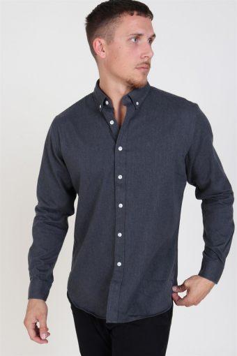 Clean Cut Sälen Flannel Hemd Charcoal