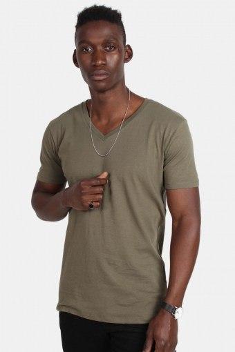 Uhrban Classics TB1559 Basic V-Neck T-shirt Olive