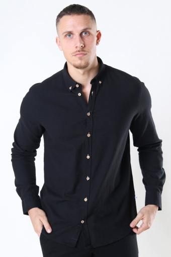 Johan Diego Cotton Hemd Black