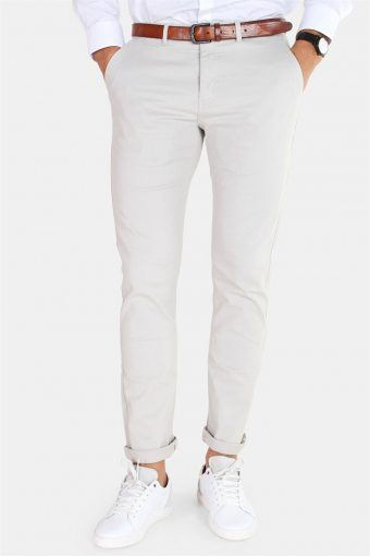 Daniel Stretch Chino Hose Light Grey