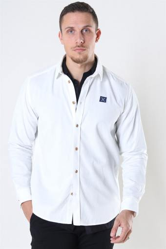 Clean Cut CordUhroy Shirt LS Ecru