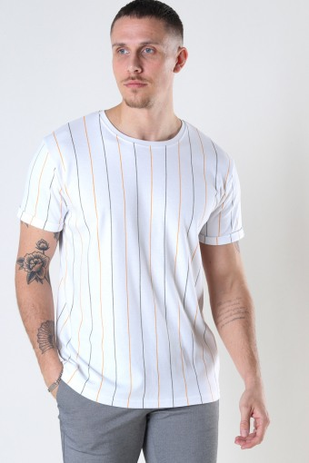 Louis Organic Tee White Stripe