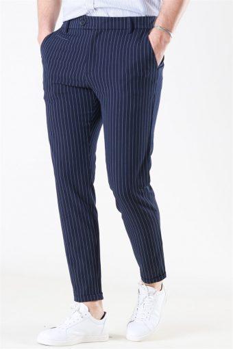 Como Light Pinstripe Suit Pants D.Navy/Provincial blue