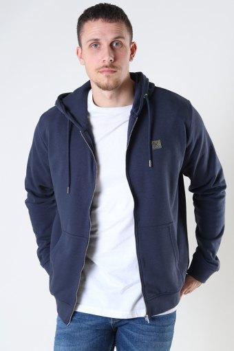 Basic Organic Zip Hood Navy
