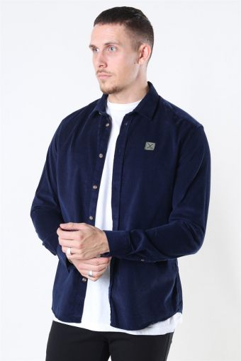 Clean Cut Corduroy Hemd L/S Navy