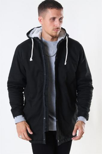 Teddy Parka Jacke Black