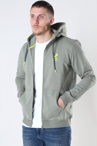 Brady Hood Zip Dusty Green
