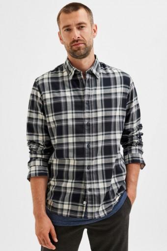 SLHSLIMTRENT Hemd LS CHECK W Black Checks