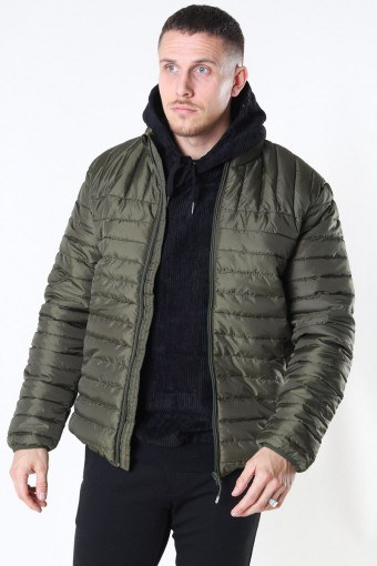 Paul Quilted Highneck Jacke Olive Night