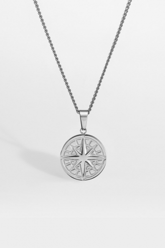 "Compass Halskette 2.0 ""Silver"""