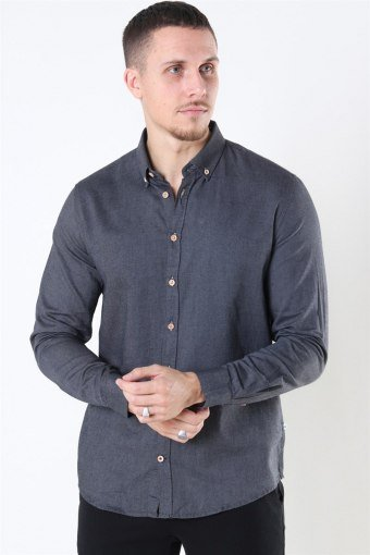Johan Diego Cotton Hemd Dark Grey