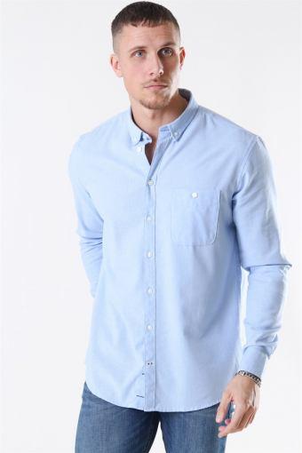Johan Linen Hemd Light Blue