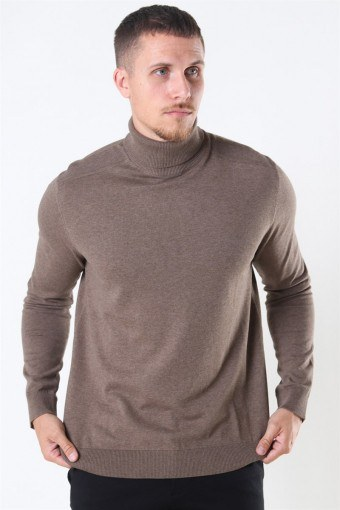 Berg Turtleneck Strik Teak